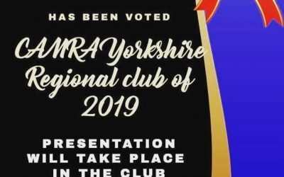 CAMRA Yorkshire Regional Club of the Year 2019